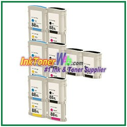 HP 88XL C9396AN C9391AN-C9393AN Compatible ink Cartridges - 14 Piece Combo