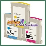 HP 88XL C9391AN-C9393AN Compatible ink Cartridges - 3 Piece Combo