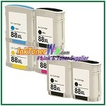HP 88XL C9396AN C9391AN-C9393AN Compatible ink Cartridges - 6 Piece Combo