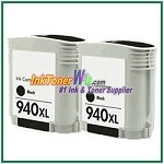 HP 940XL CD975AN Compatible Black ink Cartridge -2 Piece