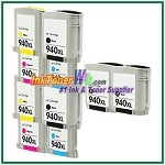 HP 940XL C4906AN-C4909AN Compatible ink Cartridges - 10 Piece Combo