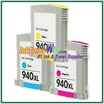 HP 940XL C4907AN-C4909AN Compatible ink Cartridges - 3 Piece Combo