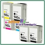 HP 940XL C4906AN-C4909AN Compatible ink Cartridges - 6 Piece Combo