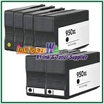 HP 950XL 951XL CN045AN-CN048AN Compatible ink Cartridges - 6 Piece Combo
