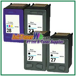 HP 27 28 Compatible ink Cartridges - 4 Piece Combo