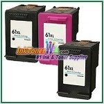 HP 61XL Compatible ink Cartridges - 3 Piece Combo