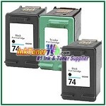 HP 74 75 Compatible ink Cartridges - 3 Piece Combo