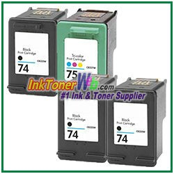 HP 74 75 Compatible ink Cartridges - 4 Piece Combo