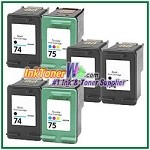 HP 74 75 Compatible ink Cartridges - 6 Piece Combo