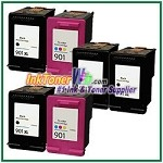 HP 901XL 901 Compatible ink Cartridges - 6 Piece Combo