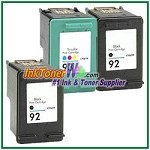 HP 92 93 Compatible ink Cartridges - 3 Piece Combo
