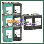 HP 92 93 Compatible ink Cartridges - 8 Piece Combo