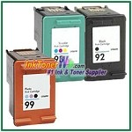 HP 92 93 99 Compatible ink Cartridges - 3 Piece Combo