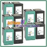 HP 92 93 Compatible ink Cartridges - 10 Piece Combo