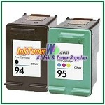 HP 94 95 Compatible ink Cartridges - 2 Piece Combo
