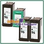 HP 96 97 Compatible ink Cartridges - 4 Piece Combo