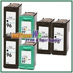 HP 96 97 Compatible ink Cartridges - 6 Piece Combo