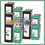 HP 96 97 Compatible ink Cartridges - 10 Piece Combo