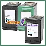 HP 98 95 Compatible ink Cartridges - 3 Piece Combo