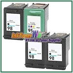 HP 98 95 Compatible ink Cartridges - 4 Piece Combo