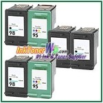 HP 98 95 Compatible ink Cartridges - 6 Piece Combo