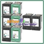 HP 98 95 Compatible ink Cartridges - 8 Piece Combo