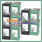 HP 98 95 Compatible ink Cartridges - 10 Piece Combo