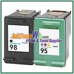 HP 98 95 Compatible ink Cartridges - 2 Piece Combo