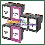 HP 63XL Compatible ink Cartridges - 6 Piece Combo