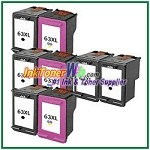 HP 63XL Compatible ink Cartridges - 8 Piece Combo