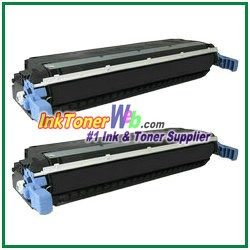 HP 645A C9730A Black Compatible Toner Cartridges - 2 Piece