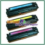 HP 125A CE259A (CB541-43A) Compatible Toner Cartridges - Tri-Pack