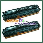 HP 125A CB540AD Black Compatible Toner Cartridges - Dual Pack