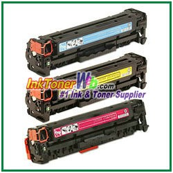 HP 304A CC531-33A Compatible Toner Cartridges - 3 Piece Combo