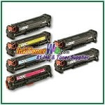 HP 304A CC530-33A Compatible Toner Cartridges - 6 Piece Combo