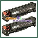 HP 304A CC530AD Black Compatible Toner Cartridges - Dual Pack