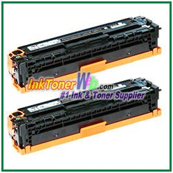 HP 128A CE320A Black Compatible Toner Cartridges  - 2 Piece