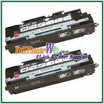 HP 308A Q2670A Black Compatible Toner Cartridges - 2 Piece