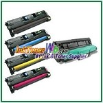 HP 122A Q3960-64A Compatible Toner Cartridges & Laser Imaging Drum - 5 Piece Combo
