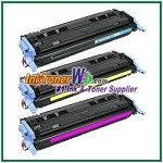 HP 124A CE257A (Q6001-03A) Compatible Toner Cartridges - Tri-Pack