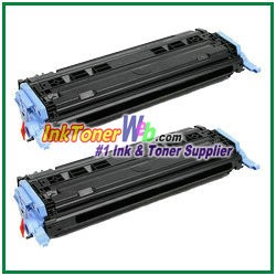 HP 124A Q6000AD Black Compatible Toner Cartridge - Dual Pack