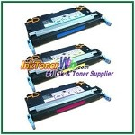 HP 503A Q7581-83A Compatible Toner Cartridges - 3 Piece Combo