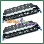 HP 501A Q6470AD Black Compatible Toner Cartridges - Dual Pack