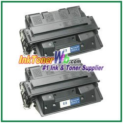 HP C8061D 61X High Yield Compatible Toner Cartridges - Dual Pack