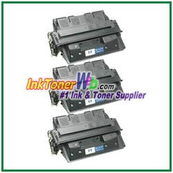 HP 61X C8061X High Yield Compatible Toner Cartridges - 3 Piece