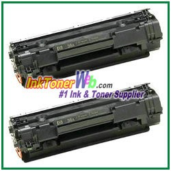 HP CB436AD (CB436AD#004) 36A Compatible Toner Cartridges - Dual Pack