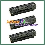 HP 36A CB436A  Compatible Toner Cartridge - 3 Piece