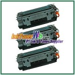 HP 55A CE255A Compatible Toner Cartridges - 3 Piece