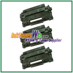 HP 55X CE255X High Yield Compatible Toner Cartridges - 3 Piece