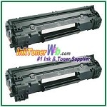 HP 78A CE278A Compatible Toner Cartridges - 2 Piece